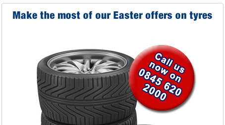 Make the most of our Easter offers on tyres